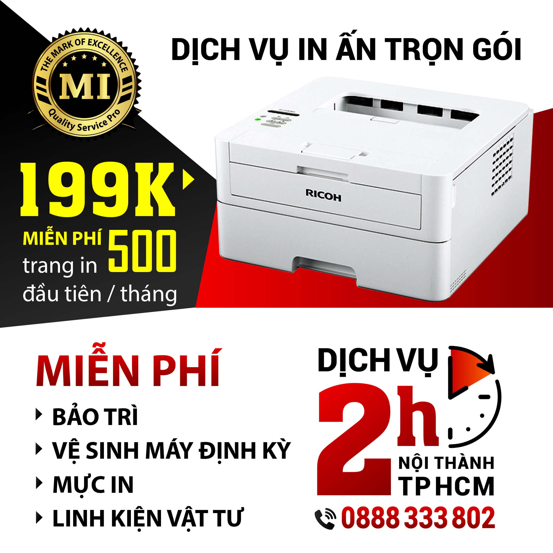 Cho thuê máy photocopy máy in trọn gói