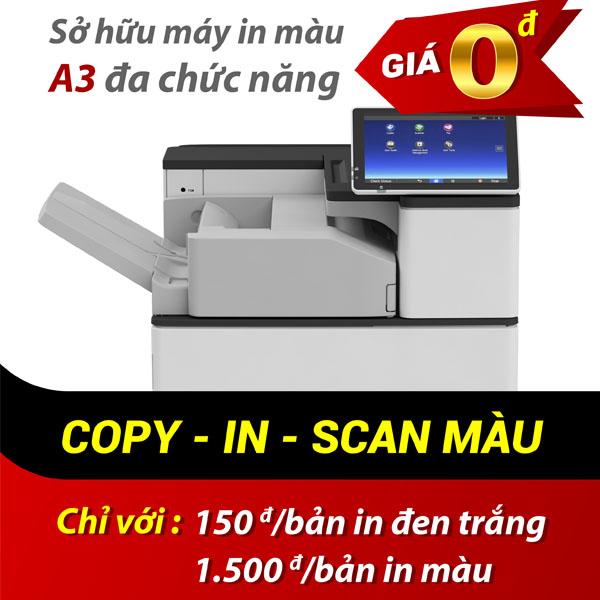 Dịch vụ cho thuê máy Photocopy màu trọn gói 0 đồng